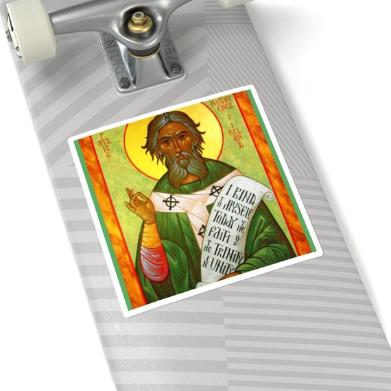 St. Patrick Icon Square Stickers