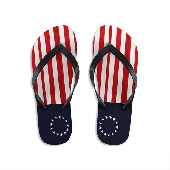 Betsy Ross Flag Unisex Flip-Flops