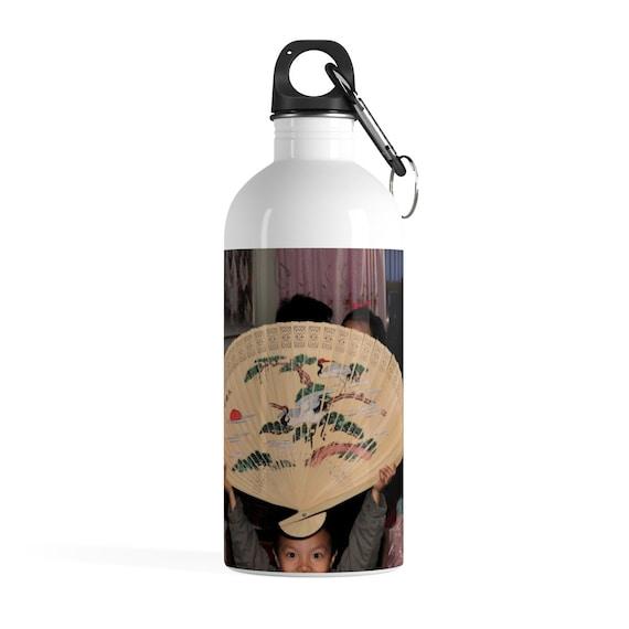 Chinese Fan Stainless Steel Water Bottle