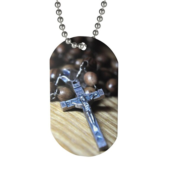Crucifix Dog Tag