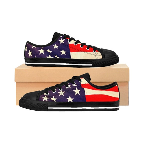 American Flag Men's Sneakers (Runs smaller than usual, suggested to size up)