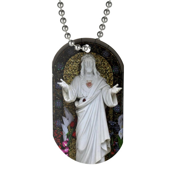 Welcoming Jesus Statue Dog Tag