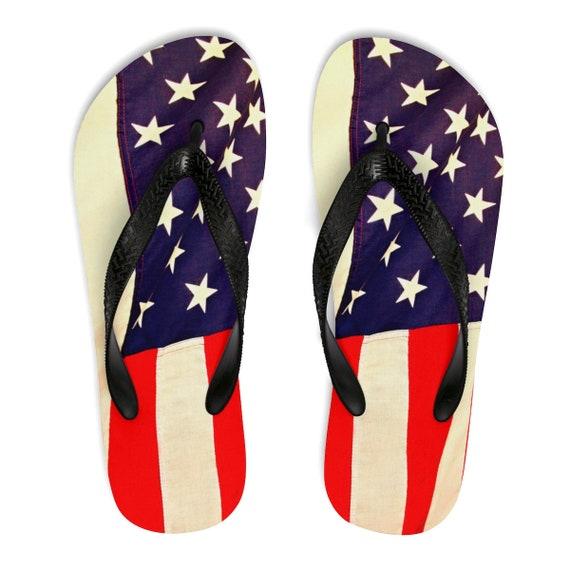 American Flag Unisex Flip-Flops