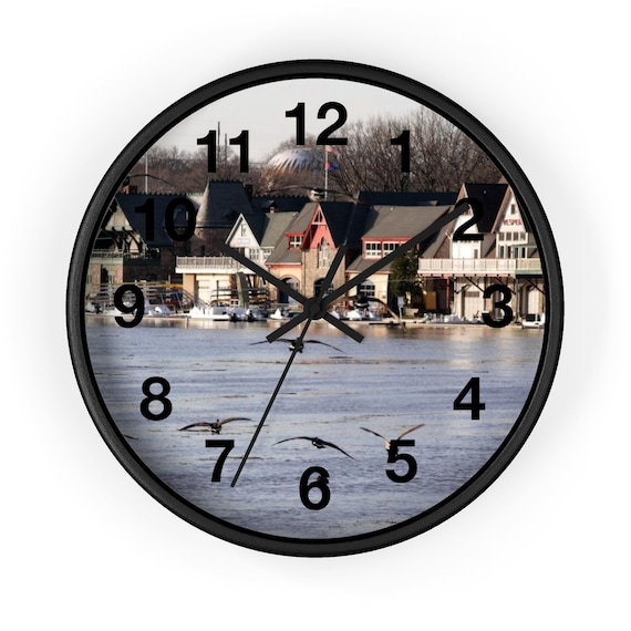 Boat House Row Wall clock