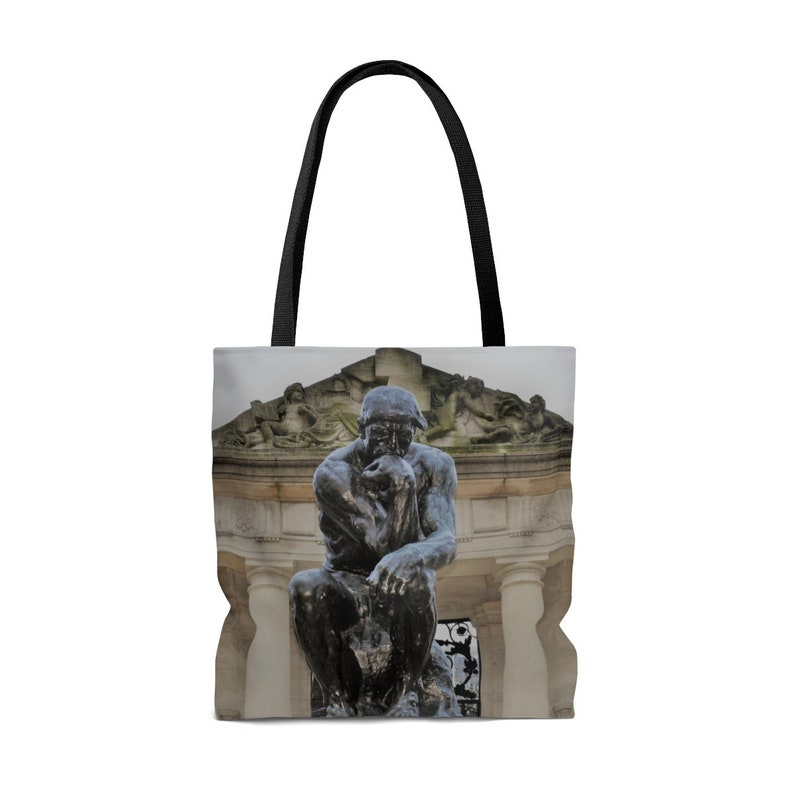Philly Thinker AOP Tote Bag Rodin
