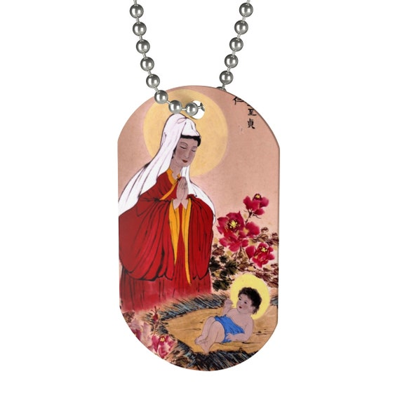 Chinese Mary and Jesus Dog Tag