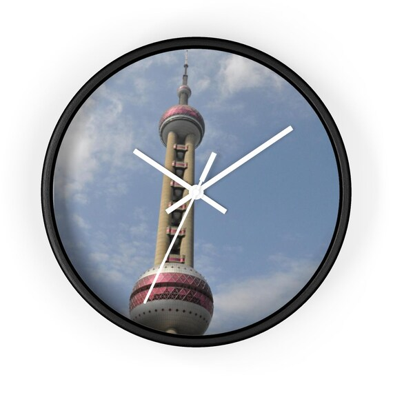 Chinese TV Tower Oriental Pearl Wall Clock