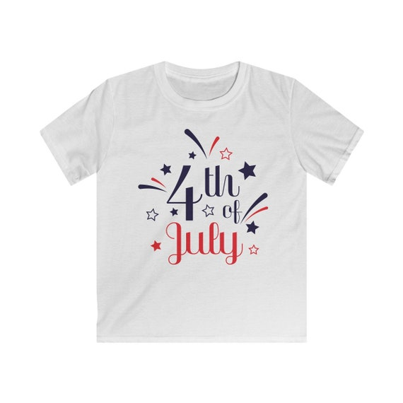Fourth of July Kids Softstyle Tee