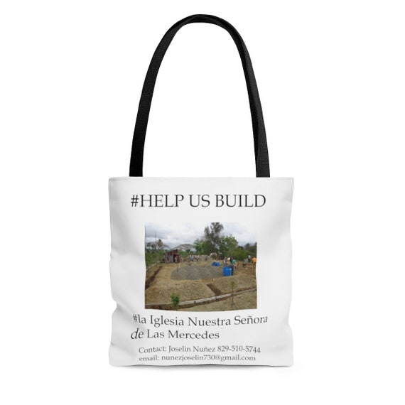 Dominican Republic Church Construction AOP Tote Bag