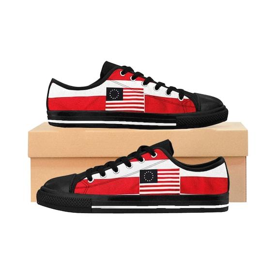 Betsy Ross Low Top Women's Sneakers