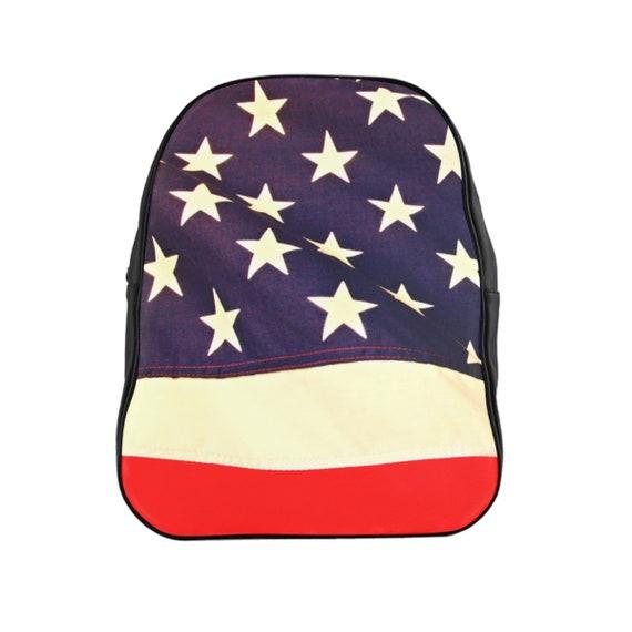 American Flag School Backpack