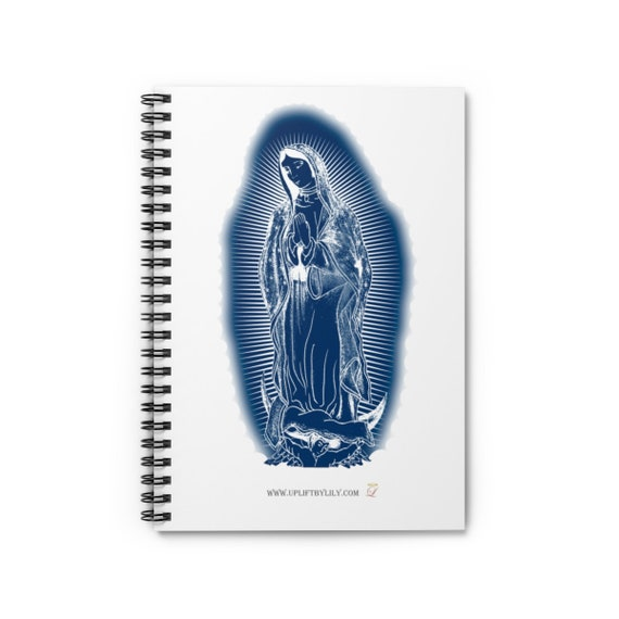 Blue Guadelupe Spiral Notebook - Ruled Line