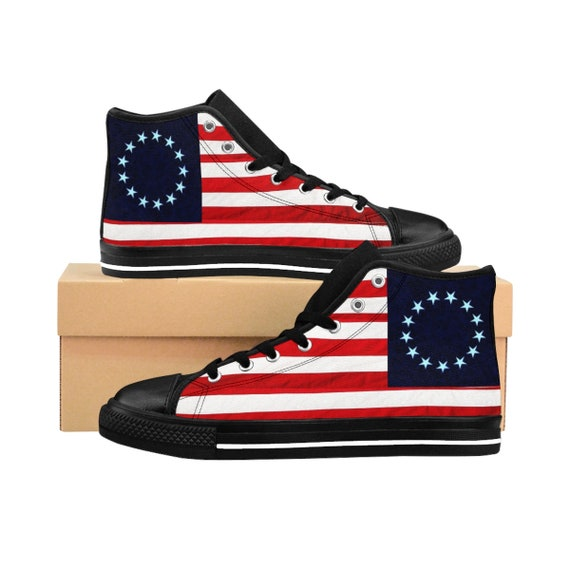 Betsy Ross Men's High-top Sneakers (see foot chart before ordering)