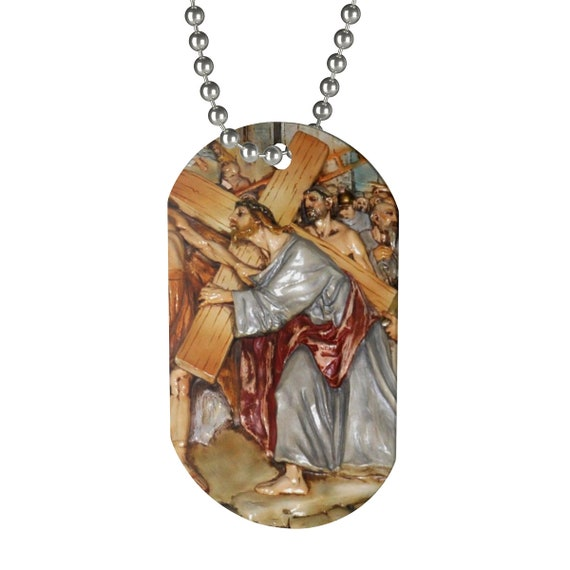 Stations Of The Cross Dog Tag