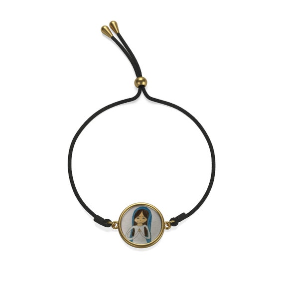 Blessed Mother Drawing Cord Bracelet