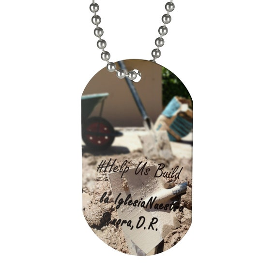 Dominican Republic Church Building Dog Tag