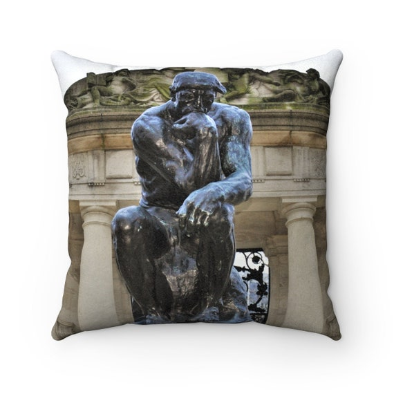 Amor/The Thinker from Philly Faux Suede Square Pillow