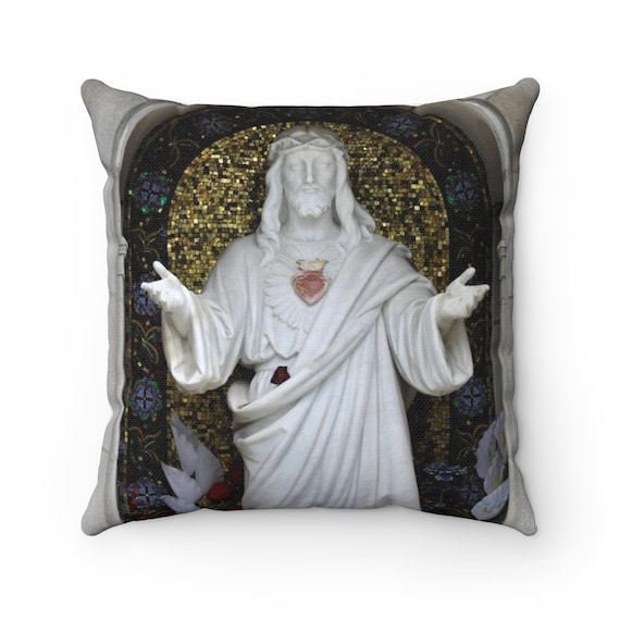 Welcoming Jesus Spun Polyester Square Pillow