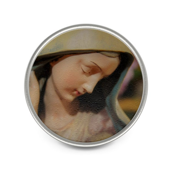 Blessed Mother Metal Pin