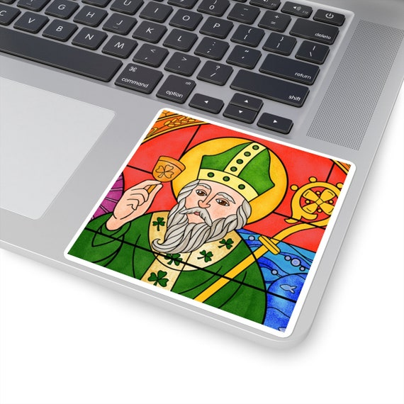 St. Patrick Square Stickers