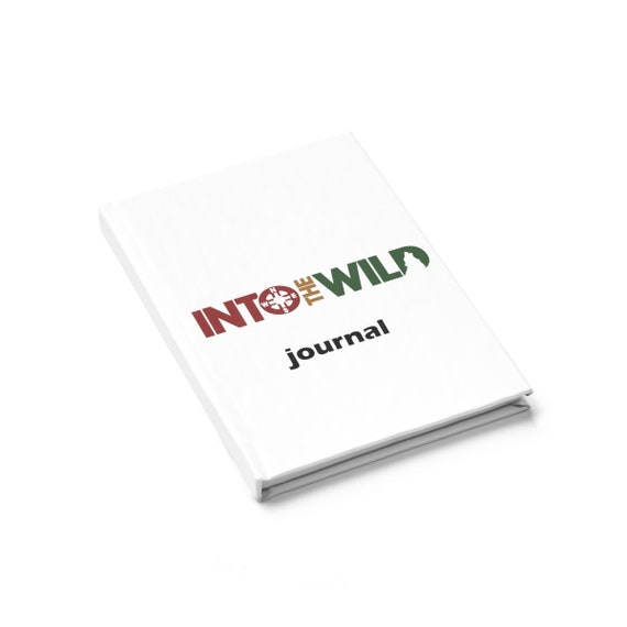 Into the Wild  Hard Back Journal - Ruled Line