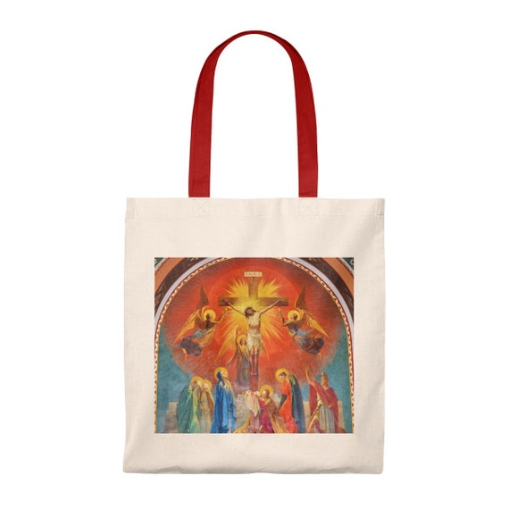 Precious Blood Mural Tote Bag - Vintage
