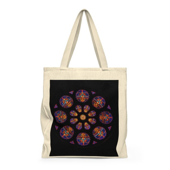Rose Window Shoulder Tote Bag - Roomy