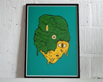 Slime Head - A2 screen print