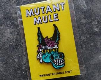Mutant Mule Large Enamel Pin