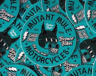 Mutant Mule Motorbike Sticker