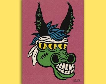 Mutant Mule (A3 art print)