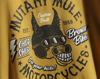 Mutant Mule Motorcycles T-shirt - Organic 100% Cotton