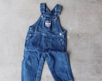 ed373e26 Vintage Tommy Hilfiger baby boys girls denim overalls
