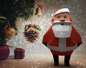 Santa 3d Papercraft Etsy