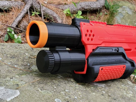 LTD Barrel Extension Rev 2 - Lariat Takedown Barrel Extension Nerf Mod for Nerf Rival Takedown