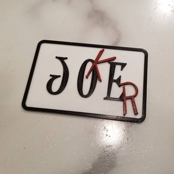 "The Joker ""Joe"" Name Tag 3d Printed Velcro Patch or Pin - New 52 Joker - Joe's Garage"