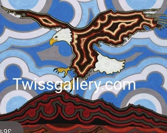 Agate to depict scenes of the Lakota. Oglala Lakota Sioux Tribe 3 Last of Winter Note Card by Native American artist Dustin Twiss