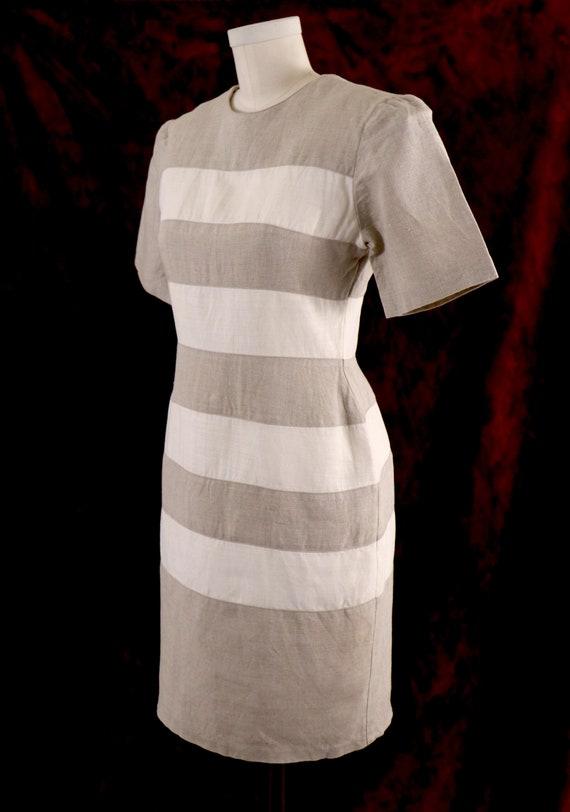 1980's Minimalist Dress/1980's Linen Dress/1980's… - image 3