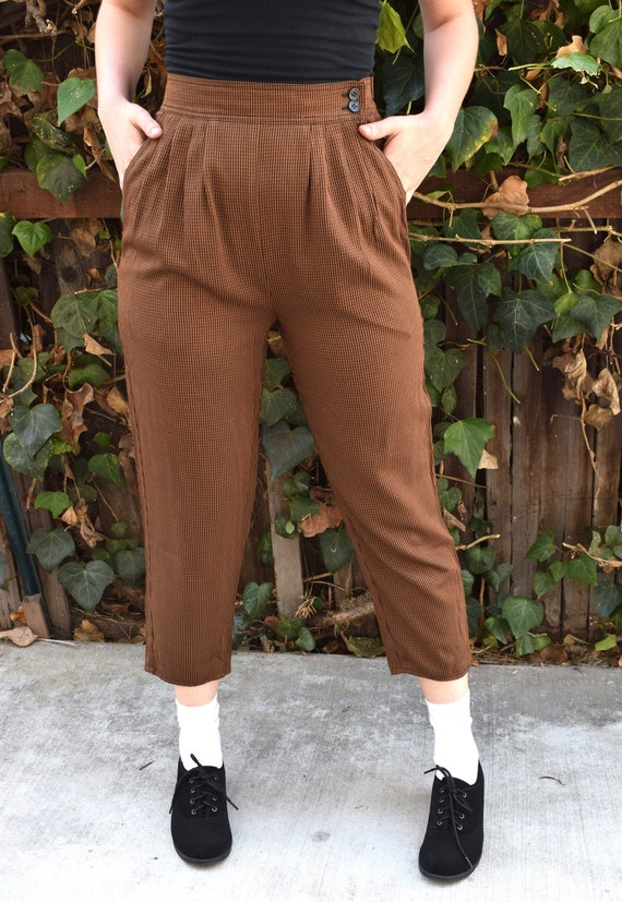 1990's High Waisted Pants/1990's Cropped Pants/199