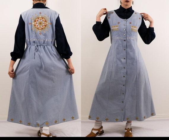 Handpainted Dress/1990's Handpainted Dress/1990's