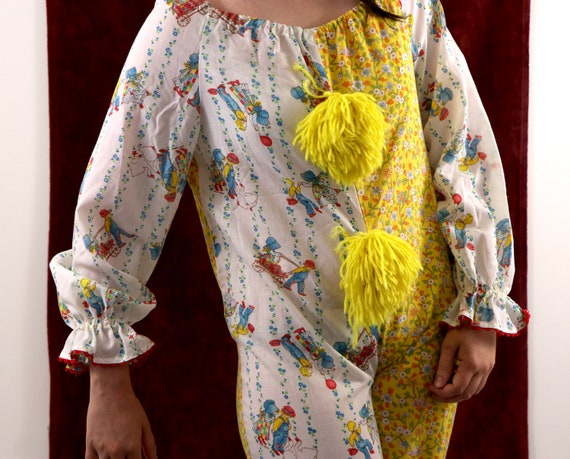 Vintage Clown Costume/70's Clown Costume/Holly Ho… - image 2