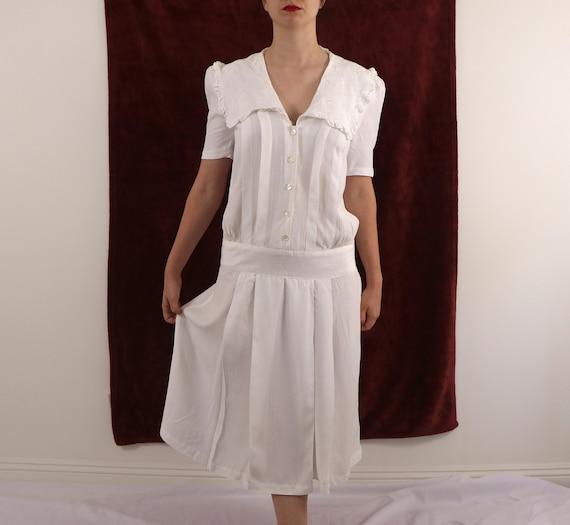 1980's Drop Waist Dress/1980's Gatsby Dress/1980's