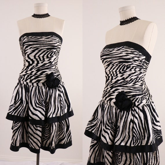 1980's Cocktail Dress/1980's Party Dress/1980's St