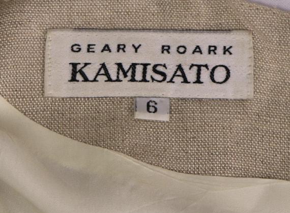 1980's Minimalist Dress/1980's Linen Dress/1980's… - image 7
