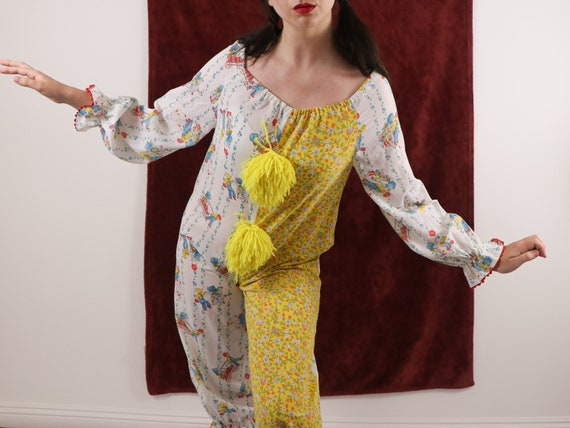 Vintage Clown Costume/70's Clown Costume/Holly Ho… - image 7