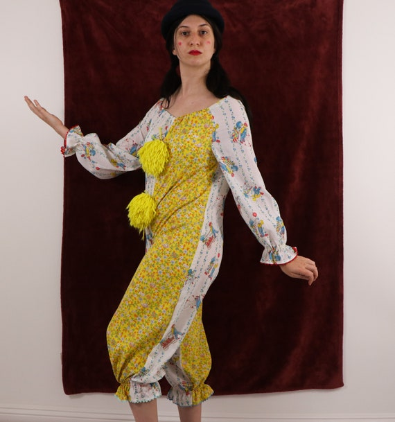 Vintage Clown Costume/70's Clown Costume/Holly Ho… - image 4