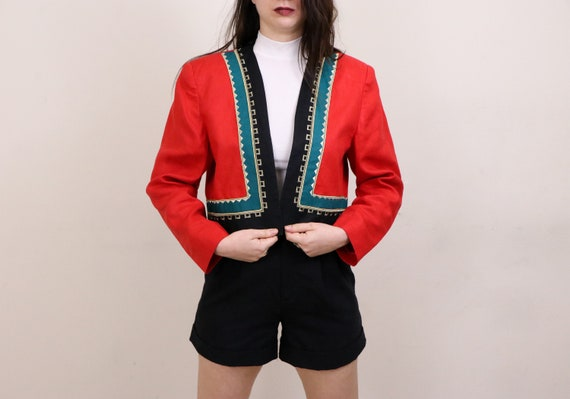 1990's Linen Blazer/1990's Cropped Blazer/1990's A