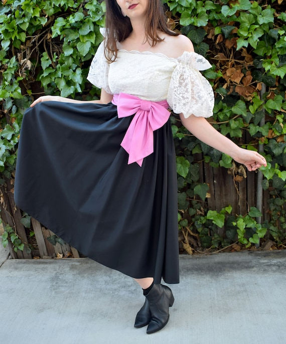 Statement Sleeves/1980's Party Dress/1980's Cockt… - image 4