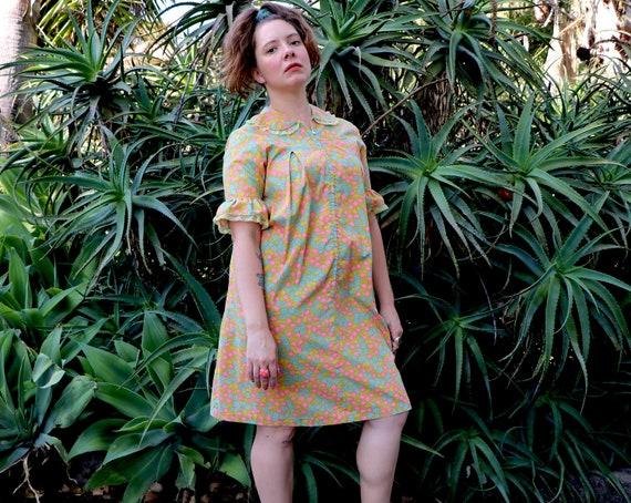 1960's Lounging Dress/1960's Loungewear/1960's Flo