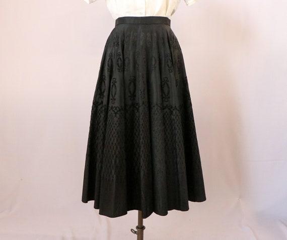 1950's Taffeta Skirt/1950's Handmade Skirt/1950's